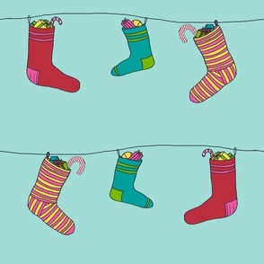 Christmas socks by Iammia