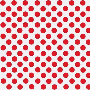 Santa's Wonderland Polka Dot Christmas Red/White-ch