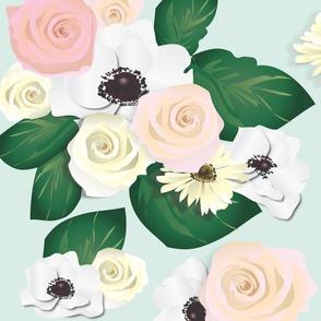 Anemone Rose Garden: Mint