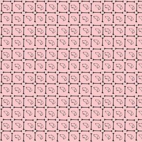 Dachshund plaid on pink background