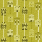 Acid yellow woven house stripes