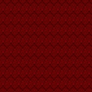 Micro Damask - Angry Genie Red