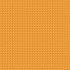 Stockinette Stitch (Orange/Yellow)