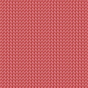 Stockinette Stitch (Red)