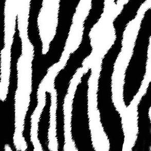 Zebra or white tiger stripes wallpaper eclectic house - Tiger stripes black and white ...