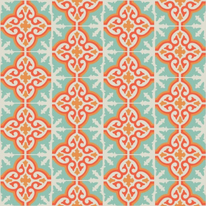 MARRUECOS - Moroccan tile - sunset + aqua