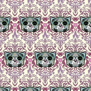 Candy Cat Damask small