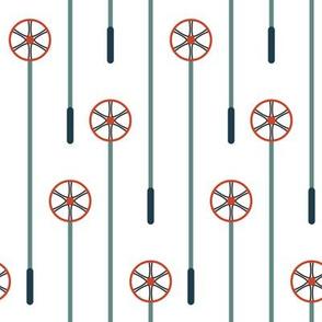 Retro Ski Poles (Classic)