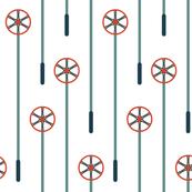 Retro Ski Poles