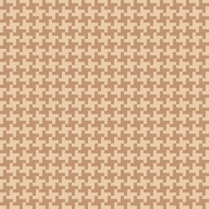 pepita beige brown