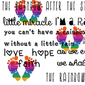 Rainbow Baby Feet