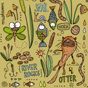 River Life - with Otter, beige