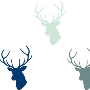 Navy & Orange Deer custom colors