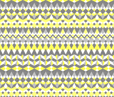 Across the Valley with Zingy Lemon - Horizontal Stripes