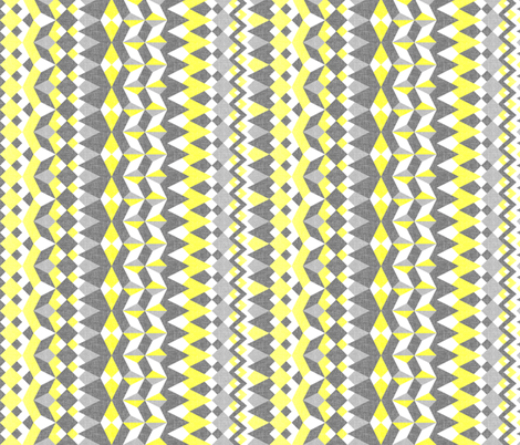Across the Valley with Zingy Lemon - Vertical Stripes