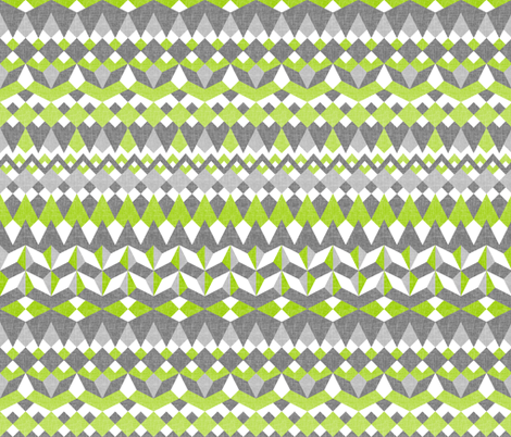 Across the Valley with Tangy Lime - Horizontal Stripes