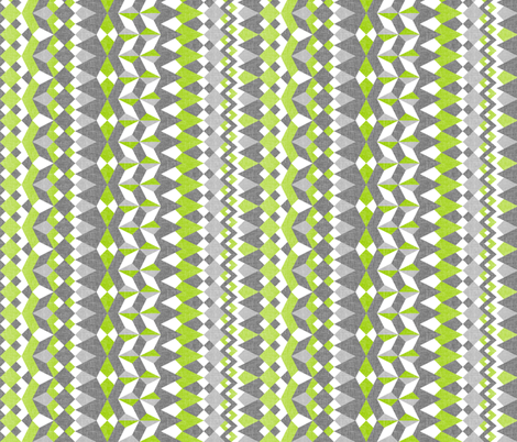 Across the Valley with Tangy Lime - Vertical Stripes