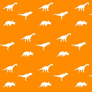 white on orange dinos