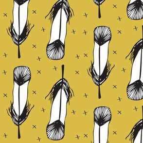 mustard feather - elvelyckan