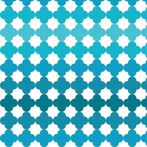 Quatrefoil Turquois Ombre-ed