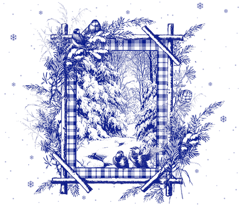 A Winter's Tale Toile in ink blue