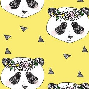 panda yellow flower - elvelyckan