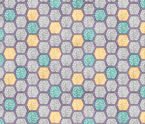 Thermos Hexes Background