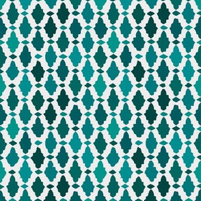 moroccan mosaic - peacock + jade