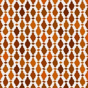 moroccan mosaic - russet + orange