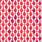 moroccan mosaic - corals + pinks by marcador