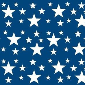 Stars- navy blue