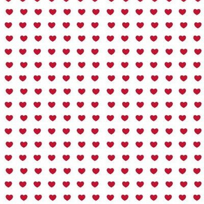 Red hearts- mini