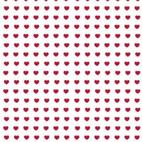 Red hearts- mini