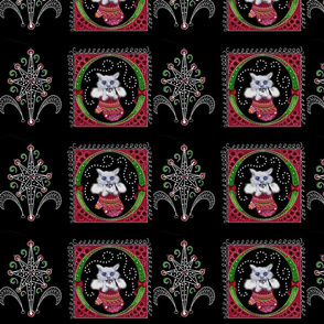 christmas kitty scroll dark