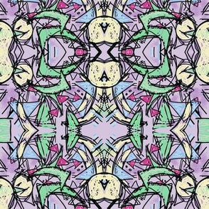 Abstract mandala lilac love