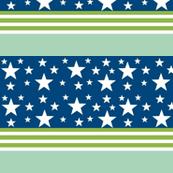 Comet -blue green stripe