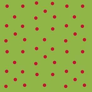 Polka Dots- red/green