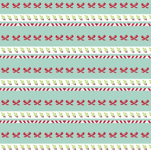 shoreline candy cane bows
