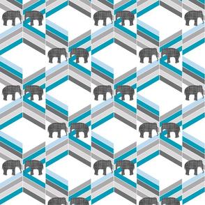 elephant on chevron