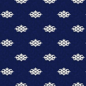 ANDRADE - ikat - navy + cream