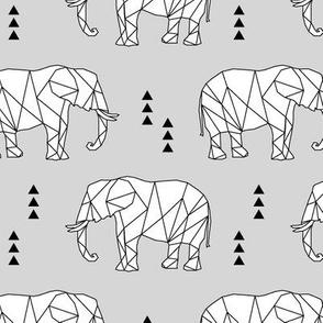 Geometric Elephant // fog