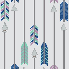Quiver Full of Arrows in Purple Blue and Green