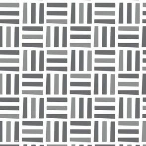 Nordic Block Quilt (Coal)