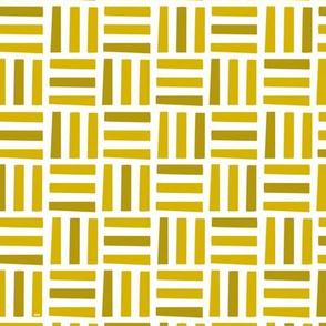 Nordic Block Quilt (Gold)
