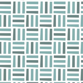 Nordic Block Quilt (Teal)