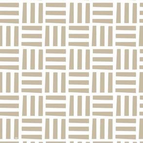 Nordic Block Quilt (Tan)
