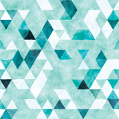 teal watercolor triangles // small