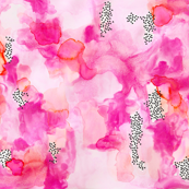 hand-painted watercolor abstract // pink + coral // small