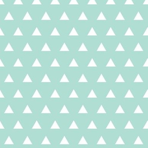 aqua triangles // small