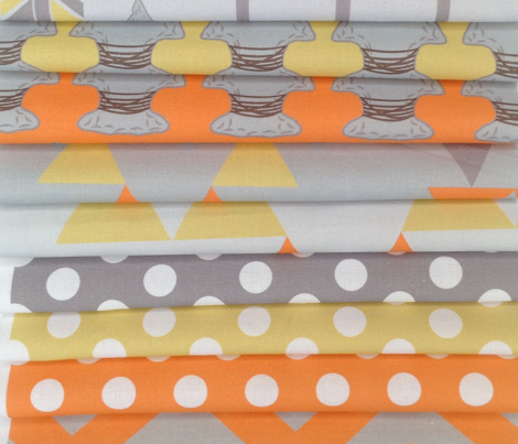 Quiver Full of Arrows Polka Dots in Orange